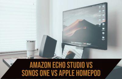 Amazon Echo Studio vs Sonos One vs Apple Homepod
