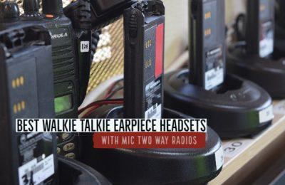 Best Walkie Talkie Earpiece Headset with Mic Two Way Radios
