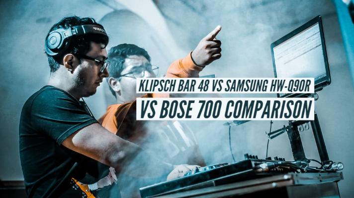 Klipsch Bar 48 vs Samsung HW-Q90R vs Bose 700 Specs Comparison
