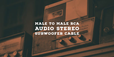 Male to Male RCA Audio Stereo Subwoofer Cable
